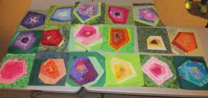 Flower charity blocks